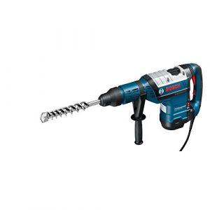 Bosch Professional Bohrhammer GBH 8-45 DV (SDS-max, Fetttube, Zusatzhandgriff, Koffer, Bohr-Ø in Beton mit Hammerbohrern: 12 – 45 mm, Schlagenergie max.: 12,5 J, 1500 Watt)