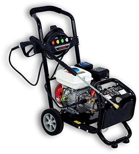 Benzin Hochdruckreiniger/Dampfstrahler mit 180 Bar - 2500 PSI / 7 PS | 5 Düsen inklusive