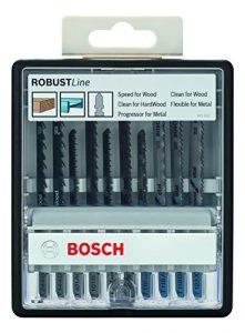 Bosch Pro 10tlg. Stichsägeblatt-Set Robust Line Wood and Metal zum Sägen in Holz und Metall