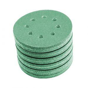 48 Stück Klett-Schleifscheiben green Ø 150 mm Körnung je 8 x 60/80/120/240/400/800 für Exzenter-Schleifer 15 Loch
