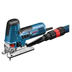 Bosch Professional Stichsäge GST 160 CE (3x Sägeblatt, Spanreißschutz, Staubabsaugungs-Set, L-BOXX, Schnitttiefe in Holz: 160 mm, 800 Watt)
