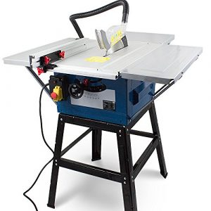 Tischkreissäge Tisch Kreissäge Heimwerker 1800 Watt Tischsäge inkl. Gestell ,Winkelanschlag für Gehrungschnitte und höhenverstellbares Sägeblatt