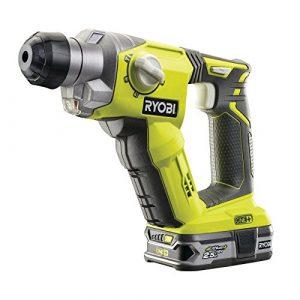 Ryobi Akku-Kombihammer SDS-plus R18SDS-L25S, leistungsstarker 18 V Bohrhammer mit Schlagstoppfunktion, pneumatisches Schlagwerk, Art.-Nr. 5133002325