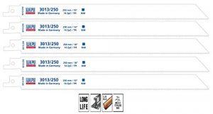 Säbelsägeblätter 5 Stück Bi-Metall 250 mm für Säbelsäge Inox Wilpu 3013/250
