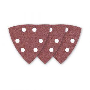 25 MioTools Delta-Schleifblatt / Schleifpapier für Deltaschleifer – 93 mm – Korn 24 – 6-Loch