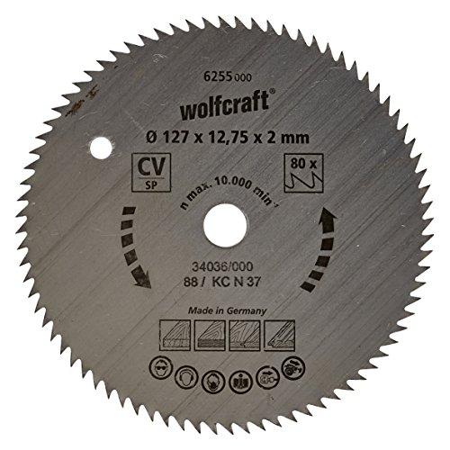 Wolfcraft Kreissäge-Blatt 127  X 12,75 80 Zähne