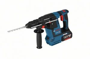 Bosch Professional 0611910007 GBH 18V-26 F Professional F Bohrhammer, 2 x 5,0 Ah Akku, Schnellladegerät, L-BOXX (18 V, Schlagenergie, max. 2,6 J, SDS-plus), 18 V, Schwarz, Blau