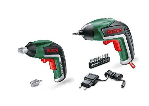 Bosch Akkuschrauber Ixo Set (Spielzeugschrauber, 10 Bits, USB Ladegerät, Karton, 3,6 Volt, 1,5 Ah)