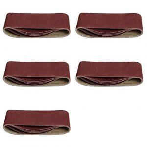 25 Stück Schleifbänder 75 x 533 mm Körnung je 5 x 40 / 60 / 80 / 120 / 180 für Bandschleifer / Gewebe-Schleifbänder