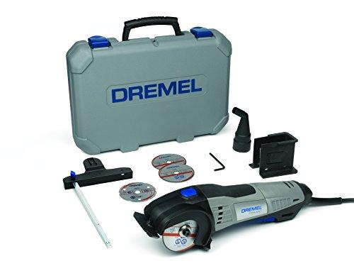 Dremel DSM20-3/4 Kompaktsäge (4x Trennscheibe, Parallelanschlag, Staubsaugeradapter, Werkzeugkoffer, 710 Watt)