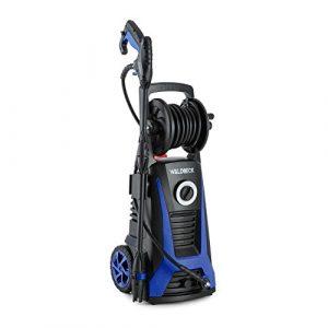 Waldbeck Saubermann • Hochdruckreiniger • Kombigerät • Terassenreiniger • 2200 W • 165 bar Höchstdruck • Shampoobehälter • inkl. Sprühlanze, Wasserleitungsanschluss, Hochdruckschlauch • schwarz-blau