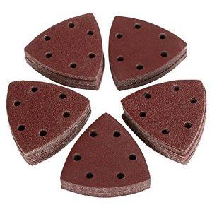 Yahee 100 Klett Schleifdreiecke 90 mm Dreieck Schleifscheiben für Deltaschleifer