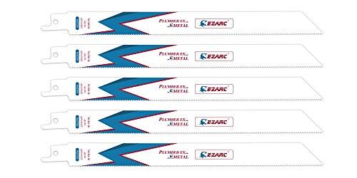 EZARC Säbelsägeblätter R922PM Metall Schneiden 225mm 14TPI (5 Stück)