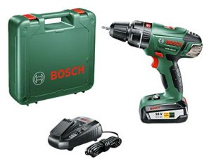 Bosch Akku Schlagbohrmaschine PSB 18 LI-2 (Akku, Ladegerät, Bit, Koffer, 18Volt System, 2,5 Ah)