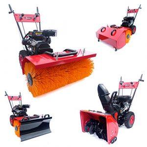 KnappWulf Kehrmaschine XL Kehrbreite mit verschiedenen Aufsätzen 4in1