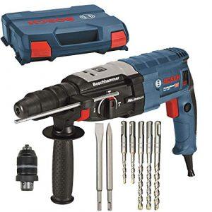BOSCH Bohrhammer GBH 2-28 F + L-Case + 2x Meißel + Makita Bohrer-Set 5 teilig