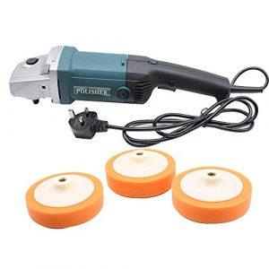 OUKANING Winkelpolierer Profi Poliermaschine Polierer Schleifmaschine 1400 Watt 0-3000R/MIN mit Zubehör