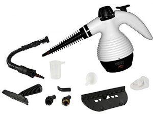 10 in 1 Multi Dampfreiniger | Steam Cleaner | Dampfbesen | Dampfmob | Handdampfreiniger | Dampfreinigungsgerät | 1.100 Watt | Inkl. 10-teiligem Zubehör | max. 3,5 Bar |