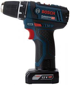 Bosch Professional Akku Bohrschrauber GSR 12V-15 (1x 2,0 Ah Akku, 1x 4,0 Ah Akku, Ladegerät, 39 tlg. Zubehörset, Tasche, 12 Volt, Schrauben-Ø: 7 mm, Drehmoment max.: 30 Nm)