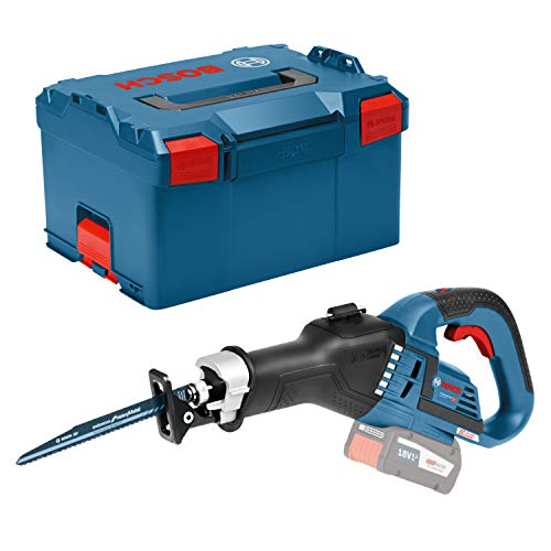 Bosch Professional 06016A8104 GSA 18 V-32 ge ohne Akku und ohne Ladeger t, 2X S belsx{00E4}geblatt, L-BOXX