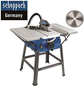 Scheppach HS 100 S Sonderedition Tischkreissäge – Kreissäge mit Feinschnitt Sägeblatt (2000 W, Sägeblatt Ø 250 x Ø 30 mm, max. Schnitthöhe 85 mm, Tischgröße 940×642 mm)