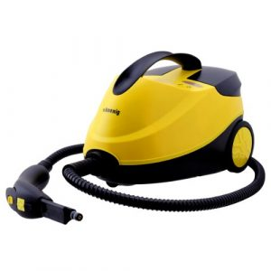 H.Koenig NV6200 hochdruck Dampfreiniger / mit Zubehört-Set / 4 bar / 1,5 Liter Kapazität / 45 Minuten Autonomie / 2000W / gelb