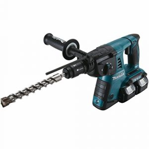 Makita DHR264Z Bohrhammer für SDS-Plus 2×18 V (ohne Akku+Ladegerät), 18 V, Schwarz, Blau