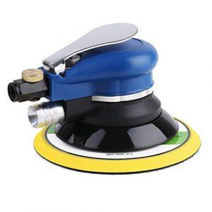 FIXKIT Druckluft Schleifer Exzenterschleifer Schleifmaschine Multischleifer + 7 240#Schleifpapier