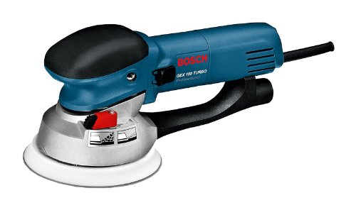 Bosch Professional GEX 150 Turbo Exzenterschleifer, Schleifteller-Ø 150 mm, 600-W-Motor, Schleifteller, Handwerkerkoffer, 1 Stück, 0601250770
