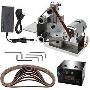 KKmoon Multifunktionsschleifer Mini Elektrische Bandschleifer DIY Polierschleifmaschine Cutter Kanten Sharpener