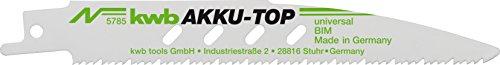kwb AKKU TOP Säbelsäge-Blätter im praktischen Zweier-Set für Holz und Metall – Sägeblatt mit einer Länge von 150/130 mm, Made in Germany