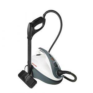 POLTI PTEU0267 Dampfreiniger Smart 30 S mit Sicherheitsverschluss, maximal Druck 3,0 bar, Dampfausstoss bis zu 85 g/min, Aufheizzeit: 8 Min, Anzeigesignal: Druck bereit, schwarz / weiss