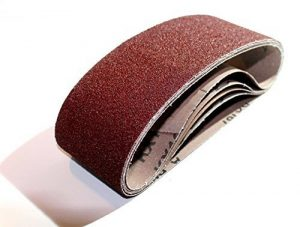 10 Stück Gewebe-Schleifbänder 75 x 533, Korn 120 – für Bandschleifer/Schleifpapier/Schleifbänder