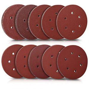 Navaris 100x Klett Schleifpapier rund für Exzenterschleifer – 40-400 Körnung ø 150mm Schleifscheiben Set für Holz Holzwerkstoffe Spanplatte Metall