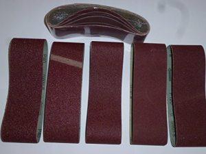 25 Stk. Gewebe-Schleifbänder 75×457 mm für Bandschleifer Mix Korn K40/60/80/120/180 Schleifband