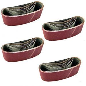 24 x Bandschleifpapier 75 x 480 mm Hochleistungs Schleifpapier Bandschleifer Schleifband