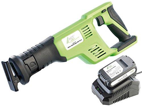 AGT Professional Stichsäge: Akku-Säbelsäge-Set AW-18.sl, GS, mit Li-Ion-Akku & Schnell-Ladegerät (Elektrosäge)