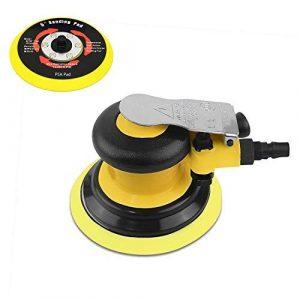 Industriell Druckluft Exzenterschleifer 125mm, Schwerlast Multifunktional Druckluftschleifer mit Klettpolster, 13000 RPM