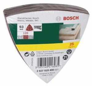 Bosch DIY 25tlg. Schleifblatt-Set verschiedene Materialien für Deltaschleifer (Körnung 240, 6 Löcher)
