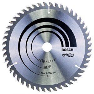 Bosch Professional Kreissägeblatt (für Holz, AußenØ: 190 mm, Bohrung: 20 mm, Zubehör für Kreissäge)