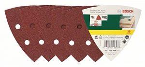 Bosch 25tlg. Schleifblatt-Set verschiedene Materialien für Deltaschleifer (Körnung 80, 6 Löcher)