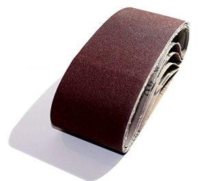 10 x Gewebe-Schleifbänder 75 x 533 mm Korn 240 für Bandschleifer Schleifband für Handelsübliche Bandschleifgeräte
