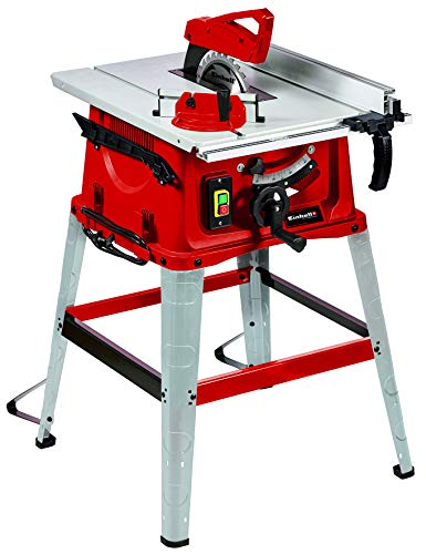 Einhell Tischkreissäge TC-TS 2025/2 eco (2.000 W, 4.250 min-1, 2-in-1-Sägeblatt-Verstellung für Höhe/Neigung, Parallelanschlag, Winkelanschlag für Gehrungsschnitte, Hartmetall-Präzisions-Sägeblatt)