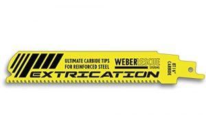 Säbelsägeblatt EXTRICATION 150 mm, mit Hartmetallzähnen für ultrahochfeste Stähle und Legierungen von WEBER RESCUE, Unfallrettung, Feuerwehr