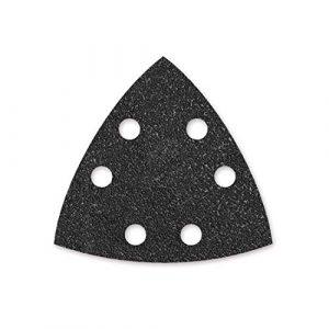 MENZER Black 50 Klett-Schleifblätter, 93 mm, 6-Loch, K150, f. Deltaschleifer, Siliciumcarbid