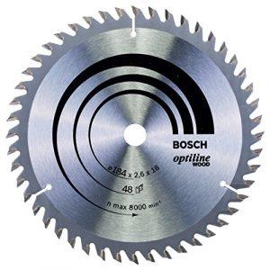 Bosch Professional Kreissägeblatt (für Holz, AußenØ: 184 mm, Bohrung: 16 mm, Zubehör für Kreissäge)