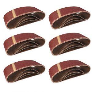 10 Stück Schleifbänder 75 x 533 mm – für Bandschleifer Korn 240