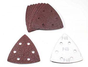 50 Bl. K40 Klett Dreieck Schleifscheiben 93x93x93 mm 6-Loch Schleifpapier f. Deltaschleifer Deltaschleifteller