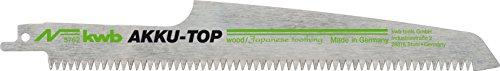 kwb AKKU TOP Säbelsäge-Blätter im praktischen Zweier-Set für Holz - Sägeblatt aus HCS Kohlenstoffstahl, Länge 230/190 mm, Made in Germany