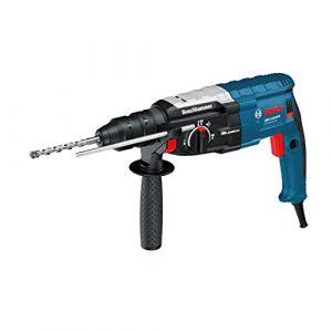 Bosch Professional GBH 2-28 DFV Bohrhammer (SDS-plus-Wechselfutter, 13 mm Schnellspannbohrfutter, bis 28 mm Bohr-Ø) blau